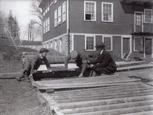 Cold frames at Essex Aggie, 1919