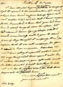 Holten Retained Draft Letter from 1784
