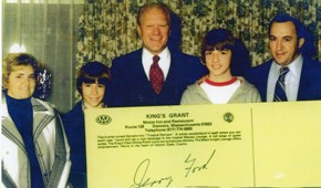 Jim George and family with President Ford.