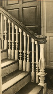 Detail of rear staircase at The Lindens
