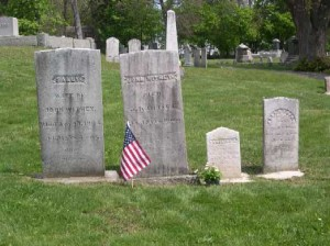 The small gravestone was restored to its family plot