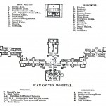 "Floor plan of the ""Kirkbride"" building"""