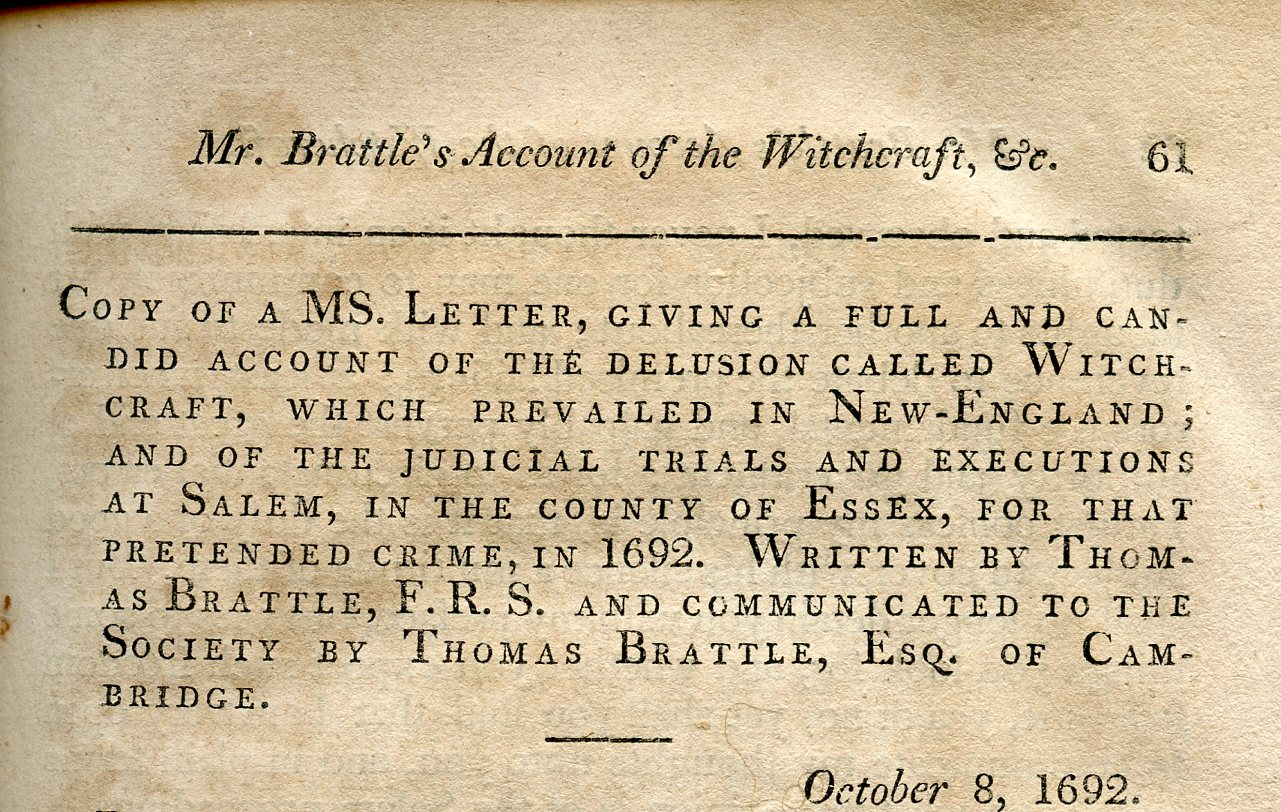 types of letters reports 1692