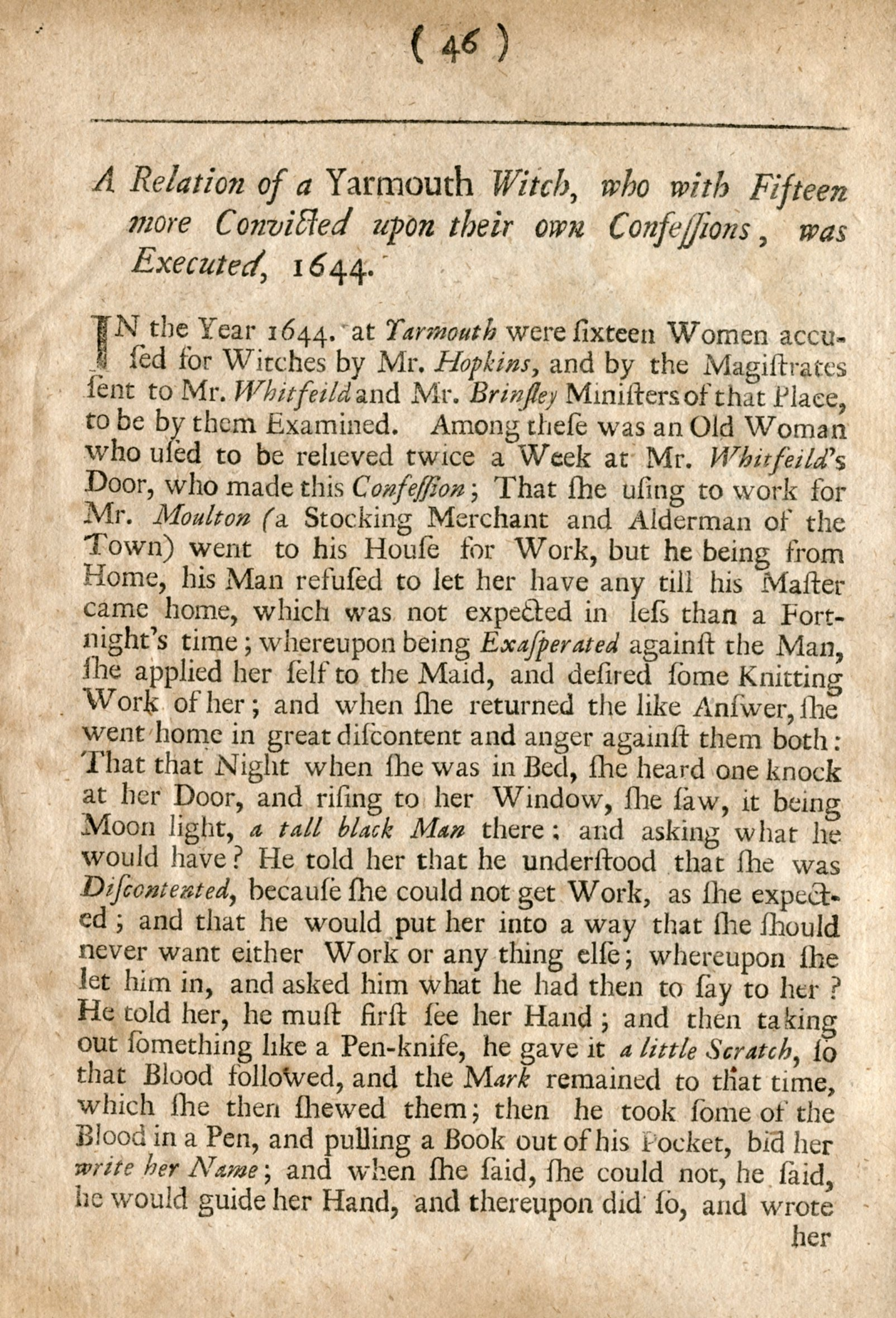 reports acirc danvers archival center peabody institute library page from the 1693 hale book