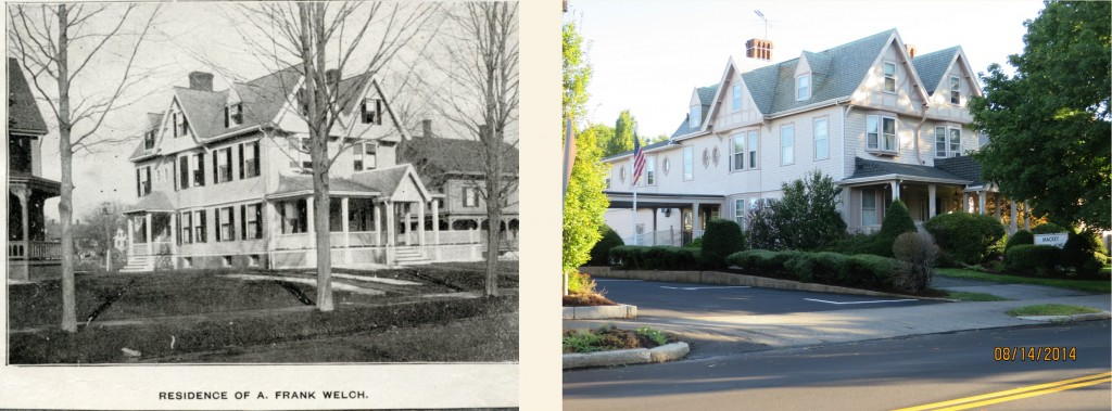 The Welch House in 1899 and 2014